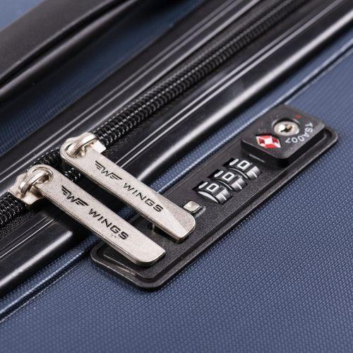 Полипропиленовый чемодан Wings Sparrow PP05 маленький синий