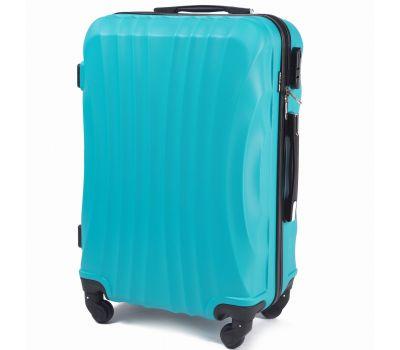 Дорожный чемодан на колесах Wings Swift 159 большой голубой