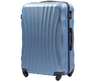 Дорожный чемодан на колесах Wings Swift 159 большой silver blue