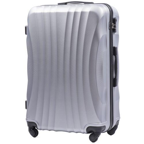 Комплект дорожных чемоданов на колесах Wings Swift 159 3в1 серебряный