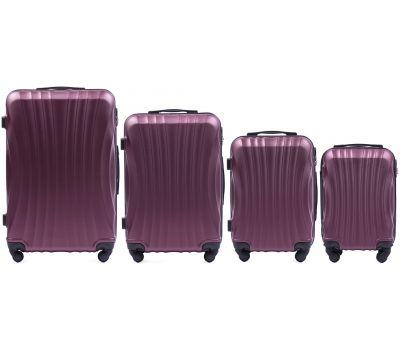 Комплект дорожных чемоданов на колесах Wings Swift 159 4в1 бордовый