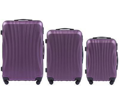 Комплект дорожных чемоданов на колесах Wings Swift 159 3в1 фиолетовый