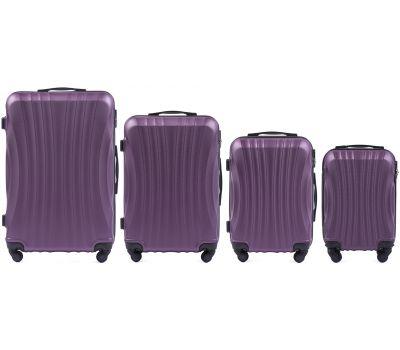 Комплект дорожных чемоданов на колесах Wings Swift 159 4в1 фиолетовый
