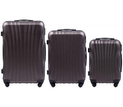 Комплект дорожных чемоданов на колесах Wings Swift 159 3в1 кофейный