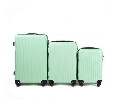 Комплект дорожных чемоданов на колесах Wings Swift 159 3в1 мятный