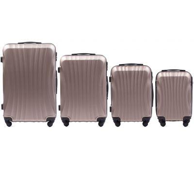 Комплект дорожных чемоданов на колесах Wings Swift 159 4в1 шампань