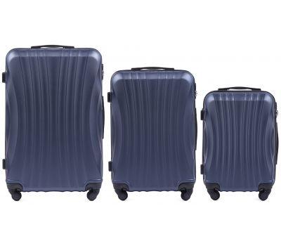 Комплект дорожных чемоданов на колесах Wings Swift 159 3в1 синий