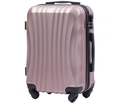 Дорожный чемодан на колесах Wings Swift 159 маленький розовое золото