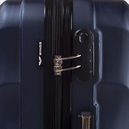 Дорожный чемодан на колесах Wings Swift 159 средний голубой