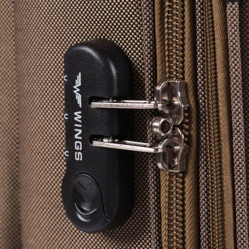Тканевый чемодан Wings Tawny Owl 1605 средний M на 2 колесах черный