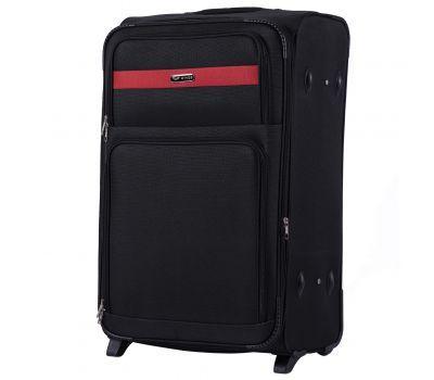 Тканевый чемодан Wings Tawny Owl 1605 большой L на 2 колесах черный