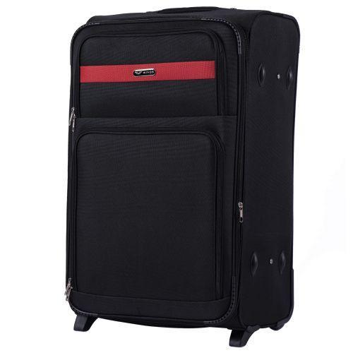 Набор тканевых чемоданов Wings Tawny Owl 1605 3 штуки на 2 колесах черный