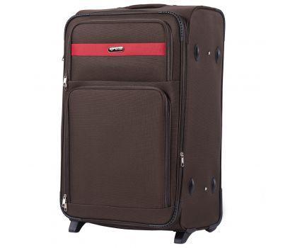 Тканевый чемодан Wings Tawny Owl 1605 большой L на 2 колесах кофейный