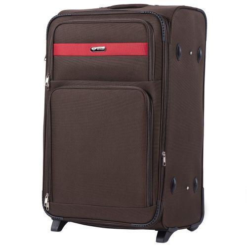 Набор тканевых чемоданов Wings Tawny Owl 1605 3 штуки на 2 колесах кофейный