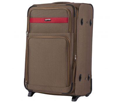 Тканевый чемодан Wings Tawny Owl 1605 большой L на 2 колесах коричневый