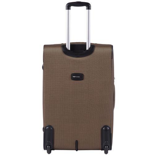 Набор тканевых чемоданов Wings Tawny Owl 1605 3 штуки на 2 колесах коричневый