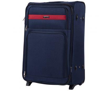 Тканевый чемодан Wings Tawny Owl 1605 большой L на 2 колесах синий