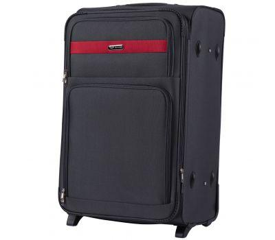 Тканевый чемодан Wings Tawny Owl 1605 большой L на 2 колесах серый