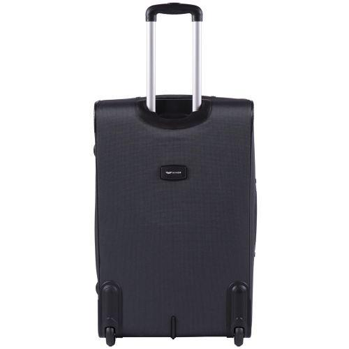 Набор тканевых чемоданов Wings Tawny Owl 1605 3 штуки на 2 колесах серый