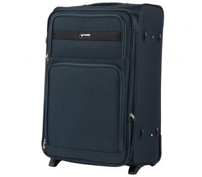 Тканевый чемодан Wings Tawny Owl 1605 большой L на 2 колесах изумрудный