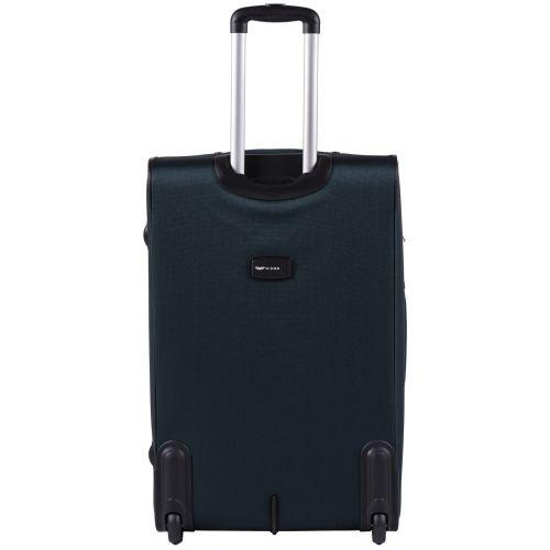 Набор тканевых чемоданов Wings Tawny Owl 1605 3 штуки на 2 колесах изумрудный