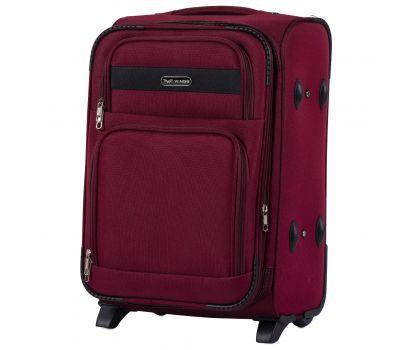 Тканевый чемодан Wings Tawny Owl 1605 маленький S на 2 колесах бордовый