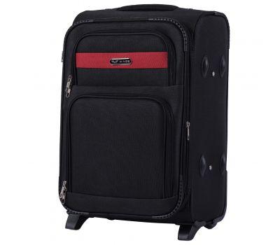 Тканевый чемодан Wings Tawny Owl 1605 маленький S на 2 колесах черный