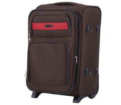 Тканевый чемодан Wings Tawny Owl 1605 маленький S на 2 колесах кофейный
