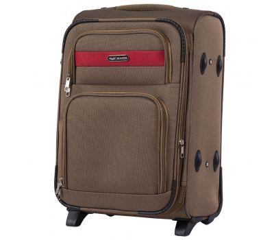 Тканевый чемодан Wings Tawny Owl 1605 маленький S на 2 колесах коричневый