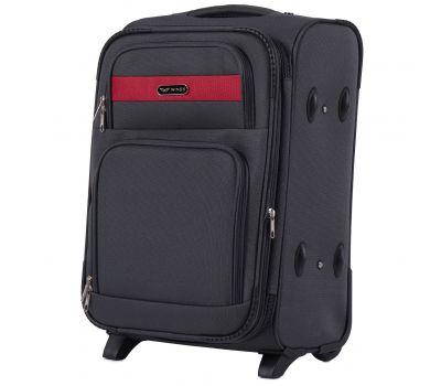 Тканевый чемодан Wings Tawny Owl 1605 маленький S на 2 колесах серый
