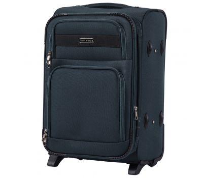 Тканевый чемодан Wings Tawny Owl 1605 маленький S на 2 колесах изумрудный