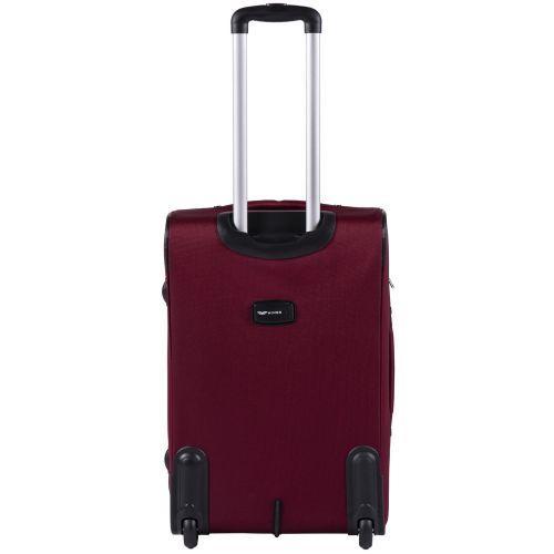 Тканевый чемодан Wings Tawny Owl 1605 средний M на 2 колесах бордовый
