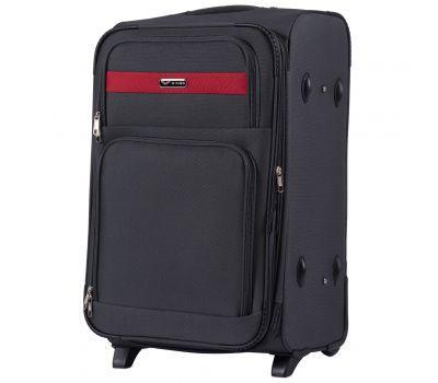 Тканевый чемодан Wings Tawny Owl 1605 средний M на 2 колесах серый