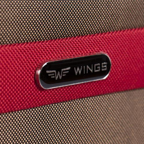 Тканевый чемодан Wings Tawny Owl 1605 средний M на 2 колесах коричневый