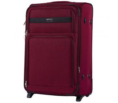 Тканевый чемодан Wings Tawny Owl 1605 большой L на 2 колесах бордовый