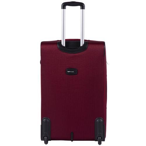 Набор тканевых чемоданов Wings Tawny Owl 1605 3 штуки на 2 колесах бордовый