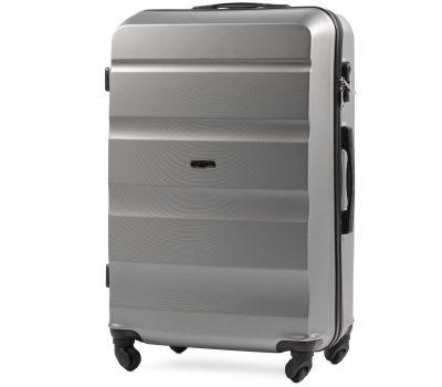 Дорожный чемодан Wings AT01 большой серебряный