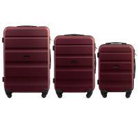 Набор дорожных чемоданов Wings AT01 3 штуки бордовый