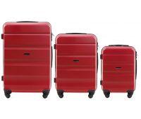 Набор дорожных чемоданов Wings AT01 3 штуки красный