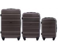 Набор дорожных чемоданов Wings AT01 3 штуки кофейный