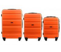 Набор дорожных чемоданов Wings AT01 3 штуки оранжевый