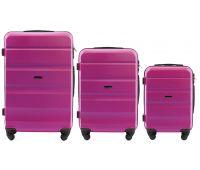 Набор дорожных чемоданов Wings AT01 3 штуки розовый