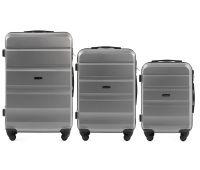 Набор дорожных чемоданов Wings AT01 3 штуки серебряный