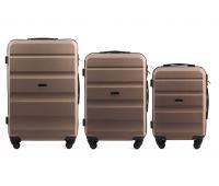 Набор дорожных чемоданов Wings AT01 3 штуки шампань