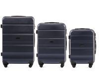 Набор дорожных чемоданов Wings AT01 3 штуки темно-синий