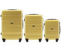 Набор дорожных чемоданов Wings AT01 3 штуки желтый