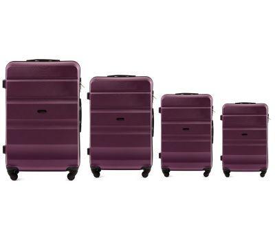 Набор дорожных чемоданов Wings AT01 4 штуки фиолетовый