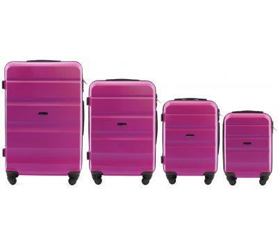 Набор дорожных чемоданов Wings AT01 4 штуки розовый