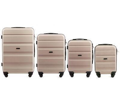 Набор дорожных чемоданов Wings AT01 4 штуки ванильный