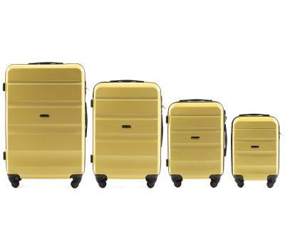 Набор дорожных чемоданов Wings AT01 4 штуки желтый